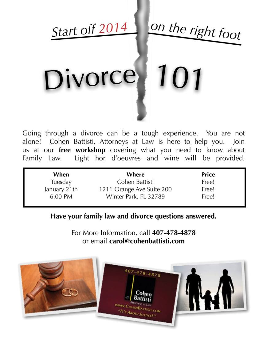Family Law 101-  Attend our family law workshop